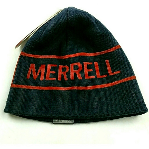 Merrel Reversible Wool Blend Palindrome Beanie Hat. NWT. Merrell 001218b01ab